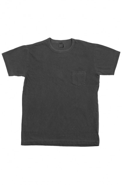 3sixteen Garment Dyed Pocket T-Shirt - Dark Smoke