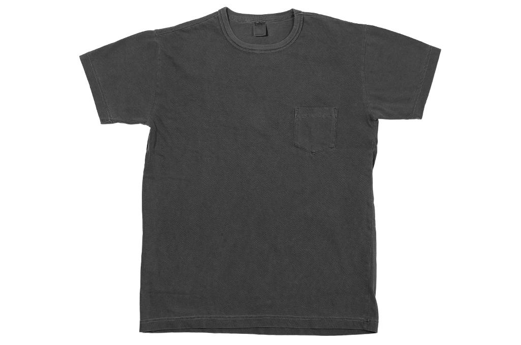 3sixteen Garment Dyed Pocket T-Shirt - Dark Smoke - Image 1
