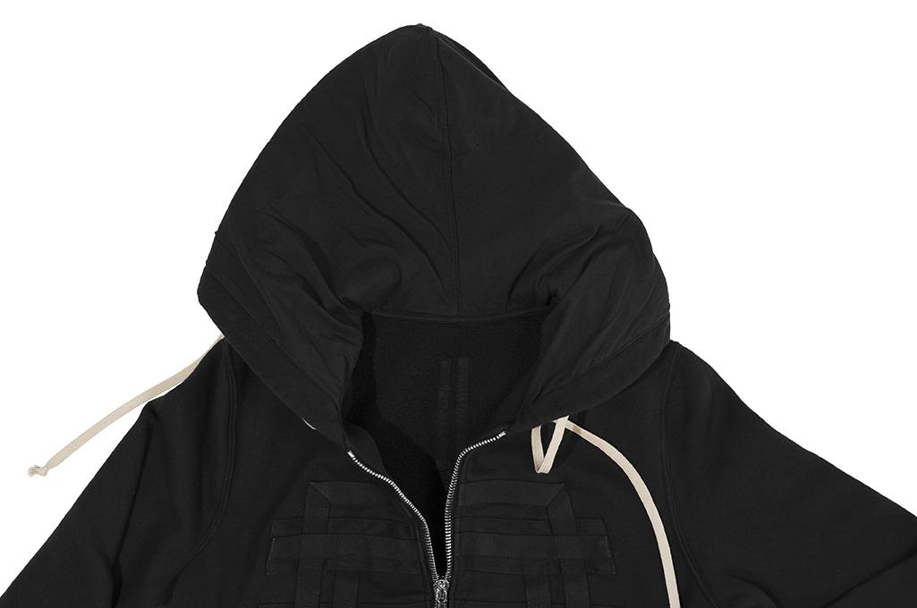 Rick Owens DRKSHDW Jason Hoodie - Black Tecuatl - Image 15
