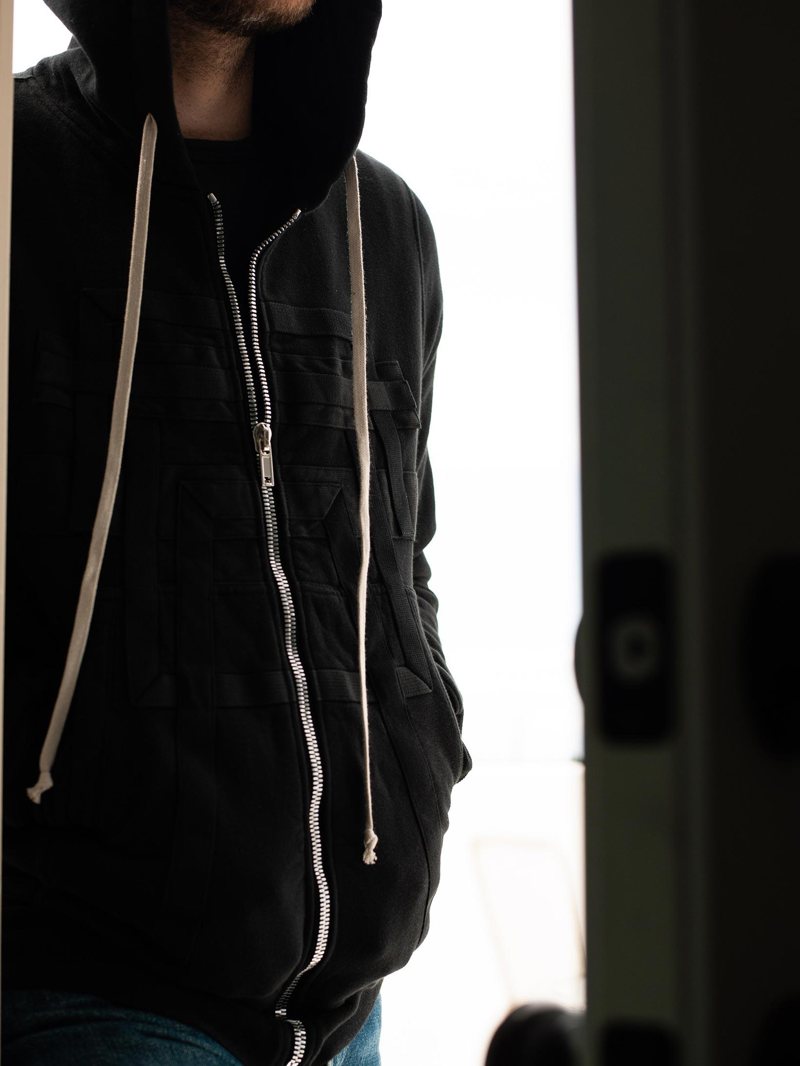 Rick Owens DRKSHDW Jason Hoodie - Black Tecuatl - Image 19