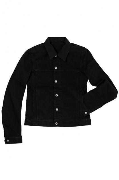 Rick Owens DRKSHDW Worker Jacket - Garment Dyed Black