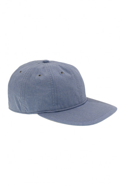 Poten Japanese Made Cap - Blue Water Repellant Chambray