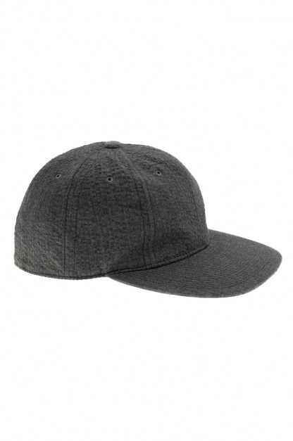Poten Japanese Made Cap - Charcoal Seersucker
