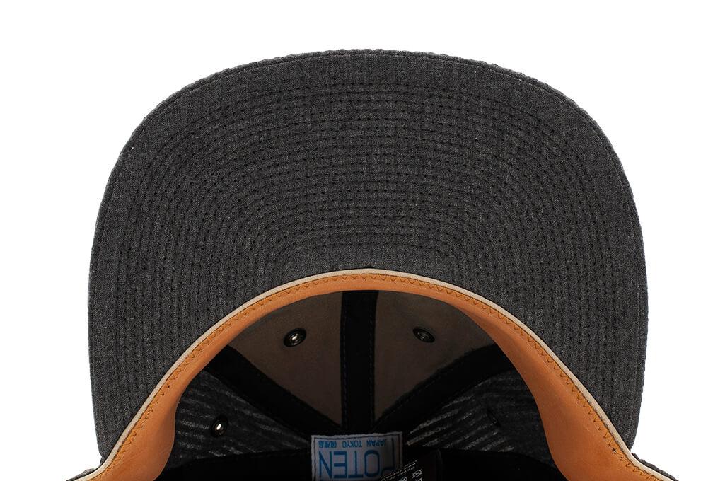 Poten Japanese Made Cap - Charcoal Seersucker - Image 7