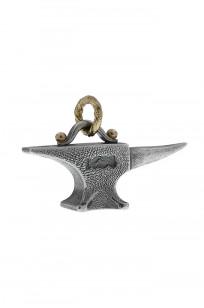Neff Goldsmith Sterling Silver & 18k Gold Pendant - Unsober Anvil - Image 0