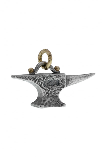 Neff Goldsmith Sterling Silver & 18k Gold Pendant - Unsober Anvil