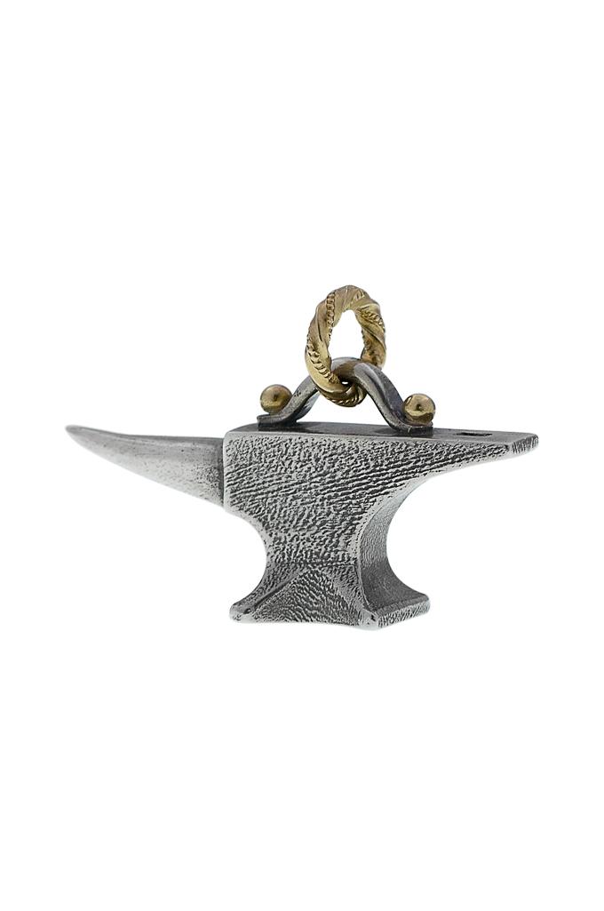 Neff Goldsmith Sterling Silver & 18k Gold Pendant - Unsober Anvil - Image 1