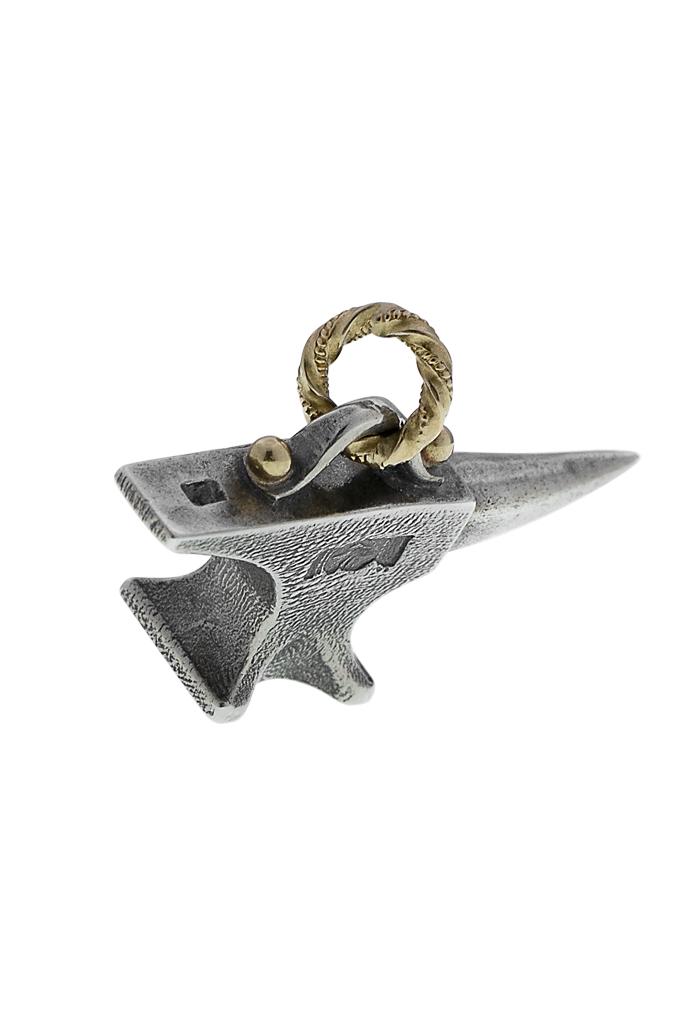 Neff Goldsmith Sterling Silver & 18k Gold Pendant - Unsober Anvil - Image 2