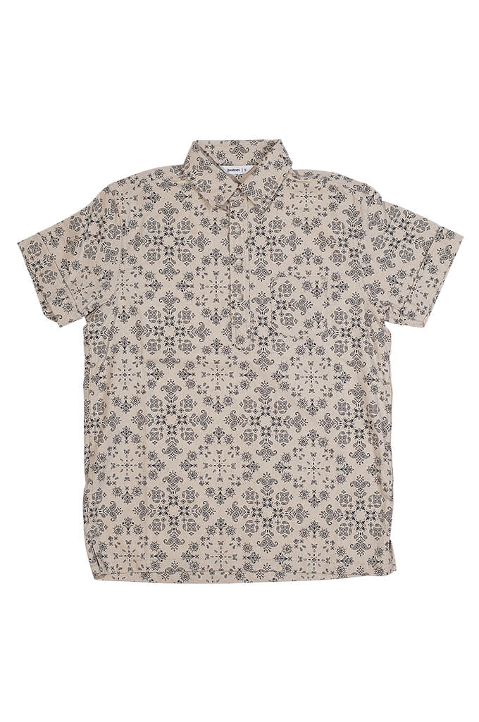 3sixteen Pop-Over Shirt - Natural Bandana - Image 0