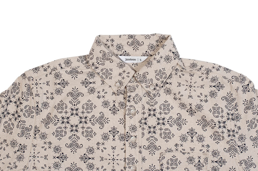 3sixteen Pop-Over Shirt - Natural Bandana - Image 4