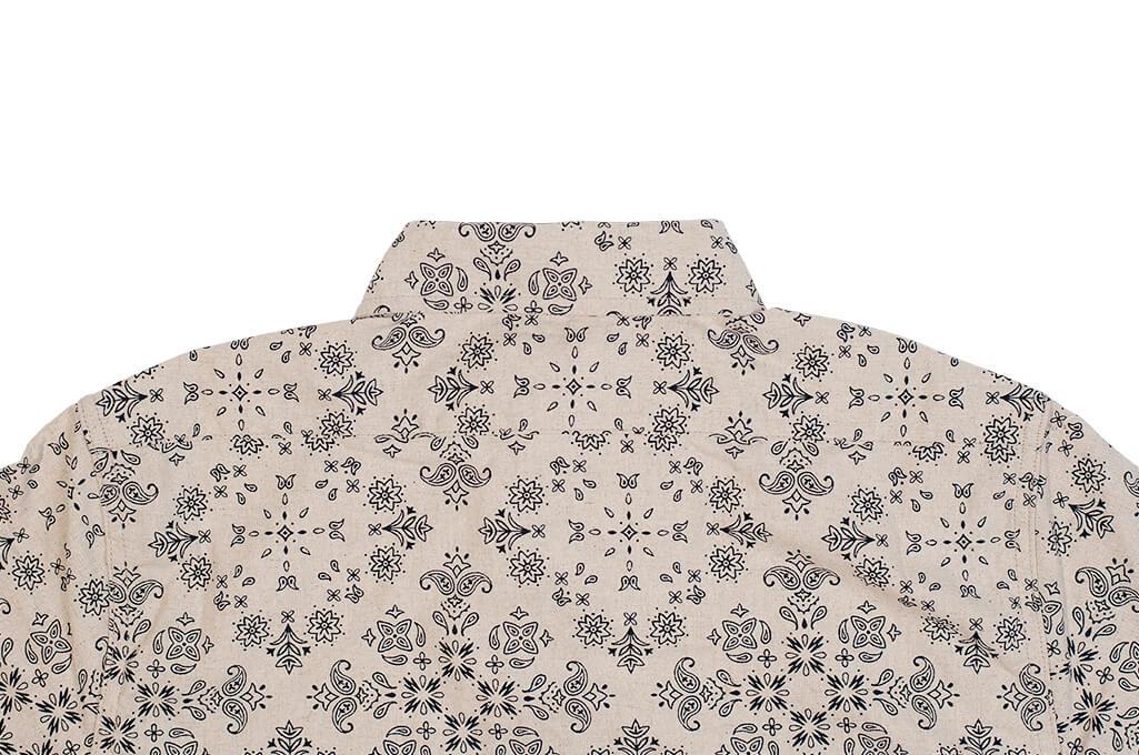 3sixteen Pop-Over Shirt - Natural Bandana - Image 9