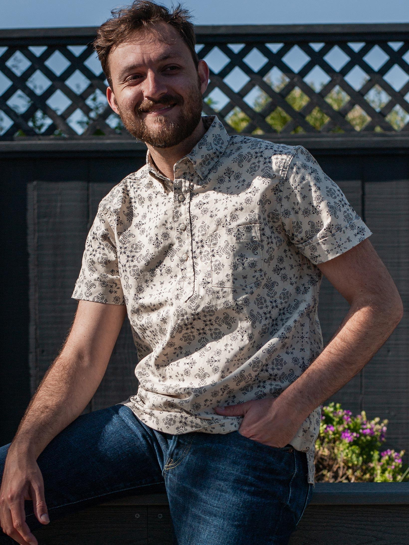 3sixteen Pop-Over Shirt - Natural Bandana - Image 14
