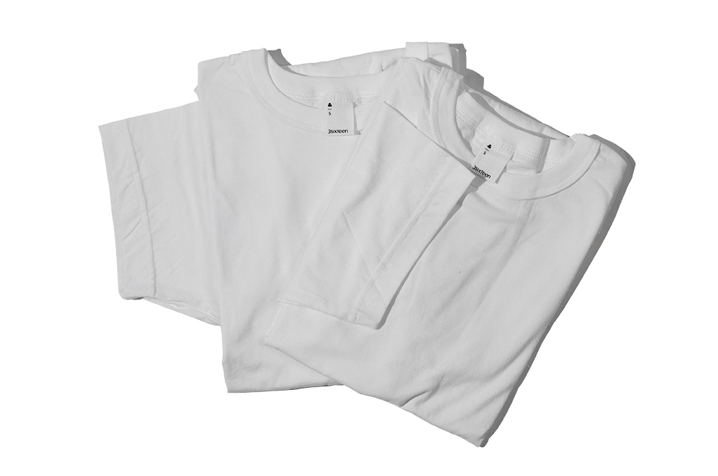 3sixteen T-Shirts w/ Pima Cotton 2-Pack - White Plain Pima - Image 2