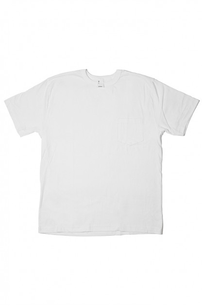 3sixteen T-Shirts w/ Pima Cotton 2-Pack - White w/ Pocket Pima