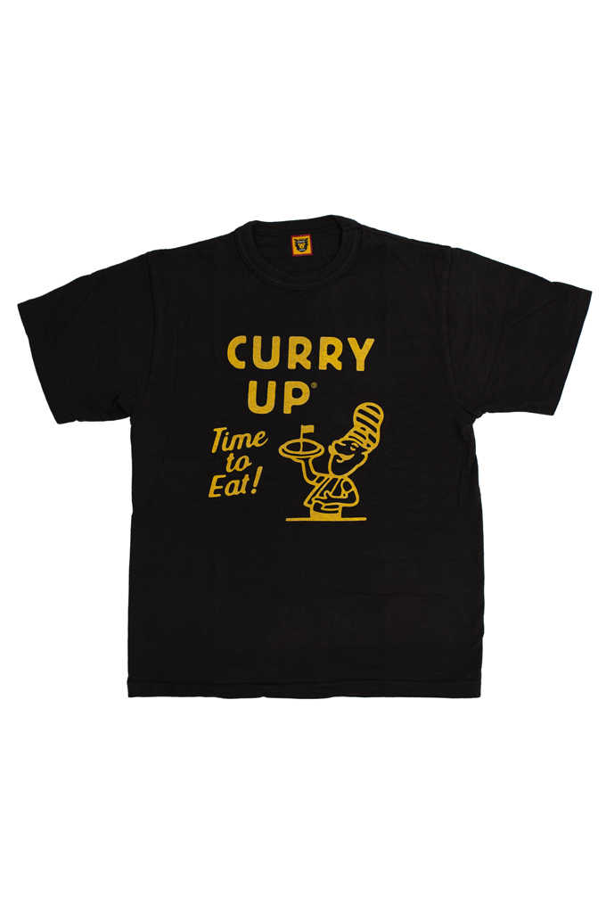 Human Made Slub Cotton T-Shirt - Curry Up - Image 0