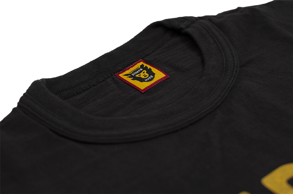 Human Made Slub Cotton T-Shirt - Curry Up - Image 5