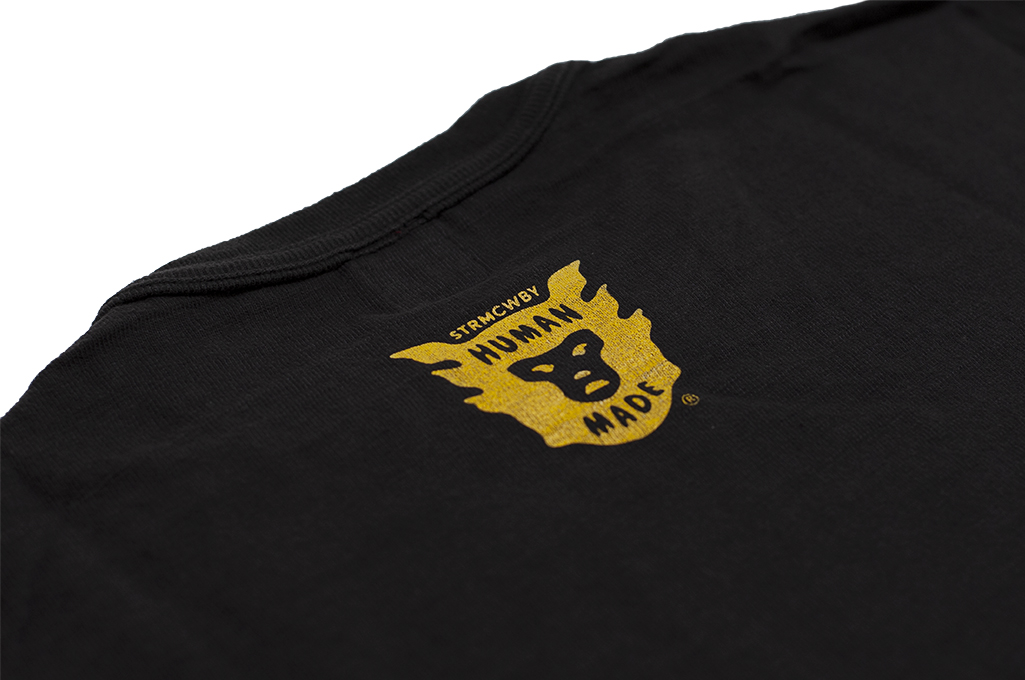 Human Made Slub Cotton T-Shirt - Curry Up - Image 8