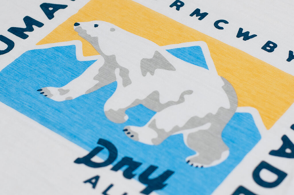 Human Made Slub Cotton T-Shirt - Dry Alls Polar - Image 3