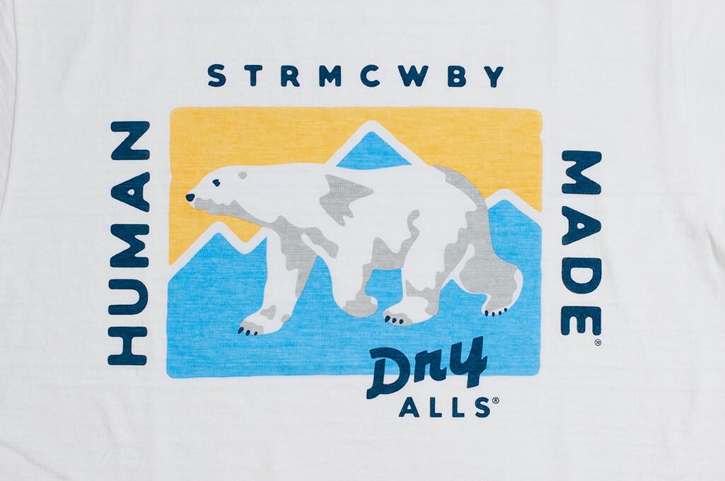 Human Made Slub Cotton T-Shirt - Dry Alls Polar - Image 4