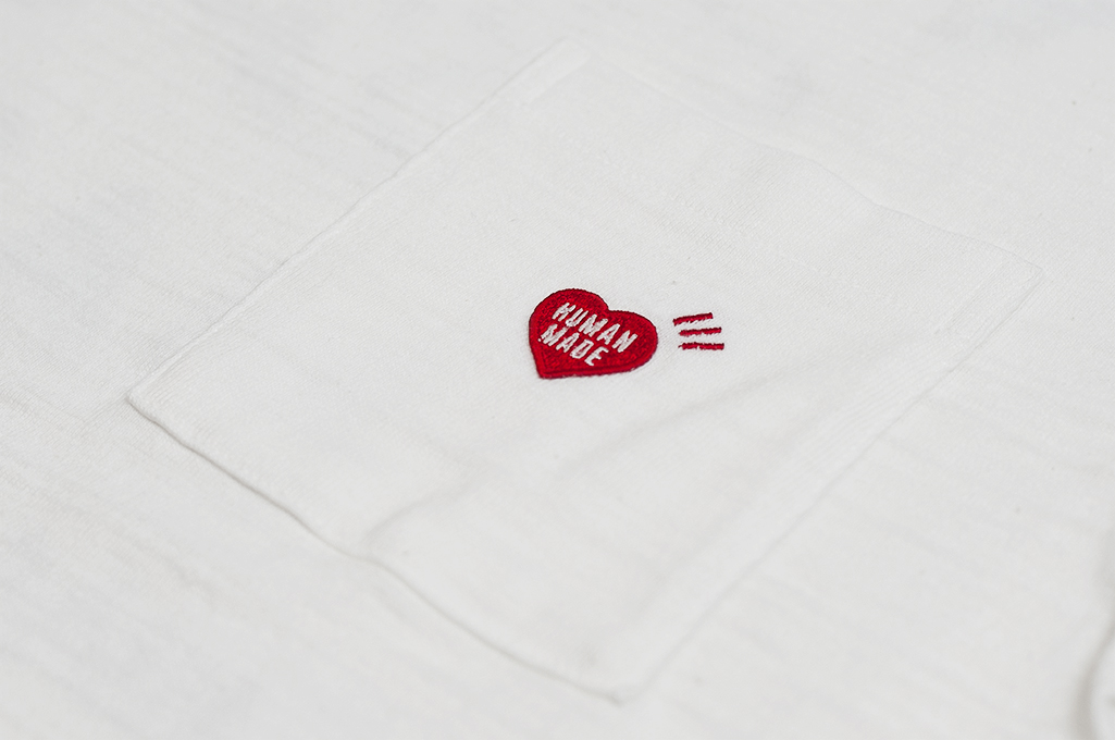 Human Made Slub Cotton T-Shirt - Gears & Polar w/ Pocket White - Image 3