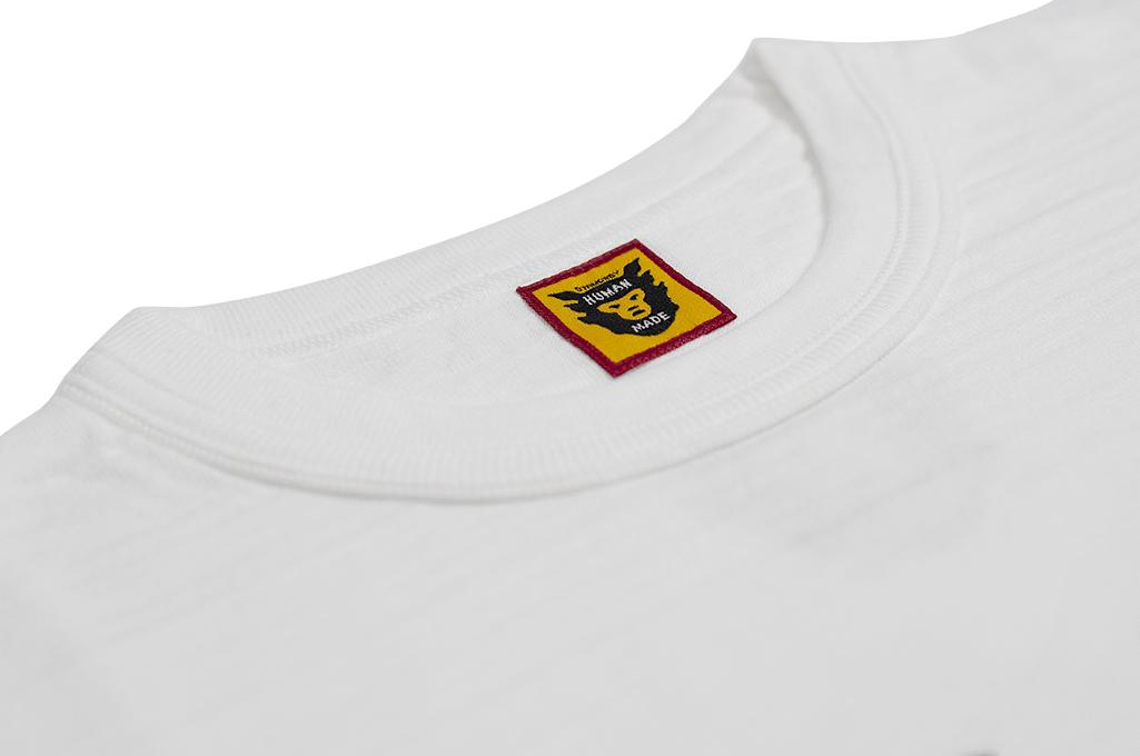 Human Made Slub Cotton T-Shirt - Gears & Polar w/ Pocket White - Image 5