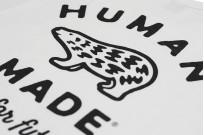 Human Made Slub Cotton T-Shirt - Gears & Polar w/ Pocket White - Image 8