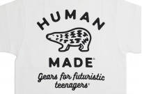 Human Made Slub Cotton T-Shirt - Gears & Polar w/ Pocket White - Image 9