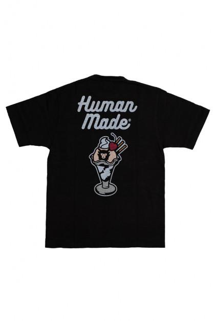 Human Made Slub Cotton T-Shirt - Sundae w/ Pocket
