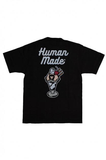 Human Made Slub Cotton T-Shirt - Sundae w/ Pocket