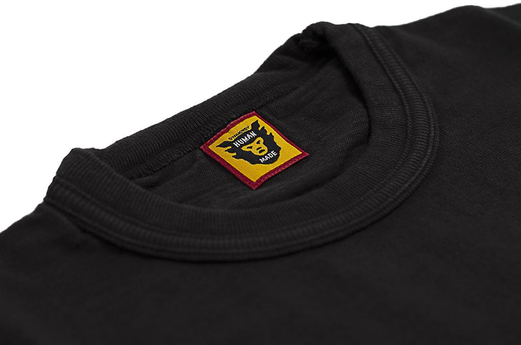Human Made Slub Cotton T-Shirt - Sundae w/ Pocket - Image 5