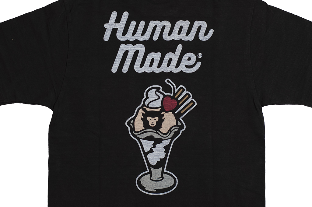Human Made Slub Cotton T-Shirt - Sundae w/ Pocket - Image 10