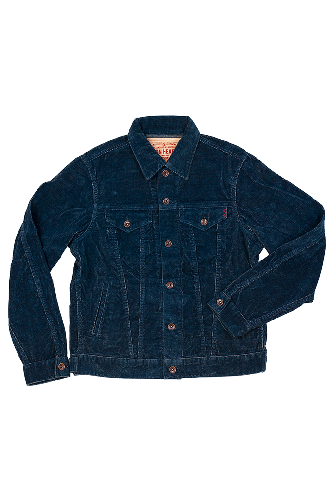 Iron Heart Corduroy Modified Type III Jacket - Indigo Dyed - Image 5