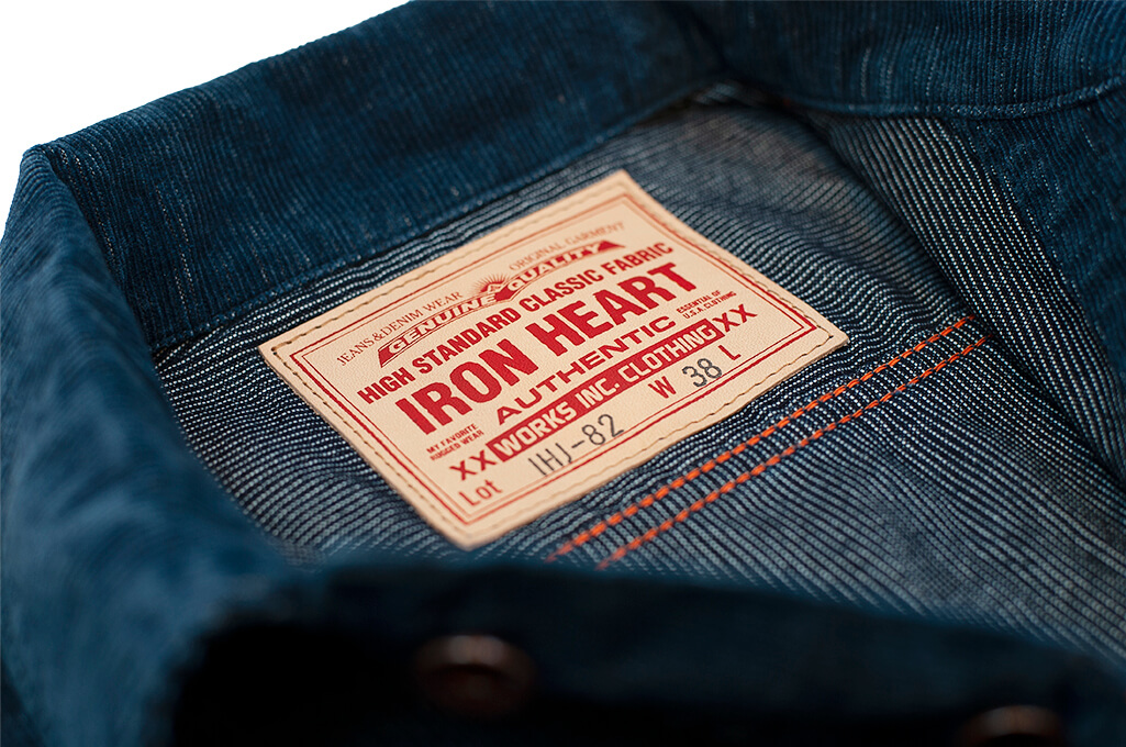 Iron Heart Corduroy Modified Type III Jacket - Indigo Dyed - Image 8