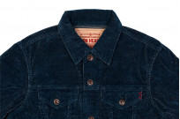 Iron Heart Corduroy Modified Type III Jacket - Indigo Dyed - Image 9