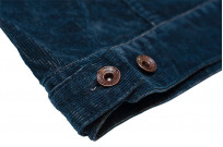 Iron Heart Corduroy Modified Type III Jacket - Indigo Dyed - Image 15