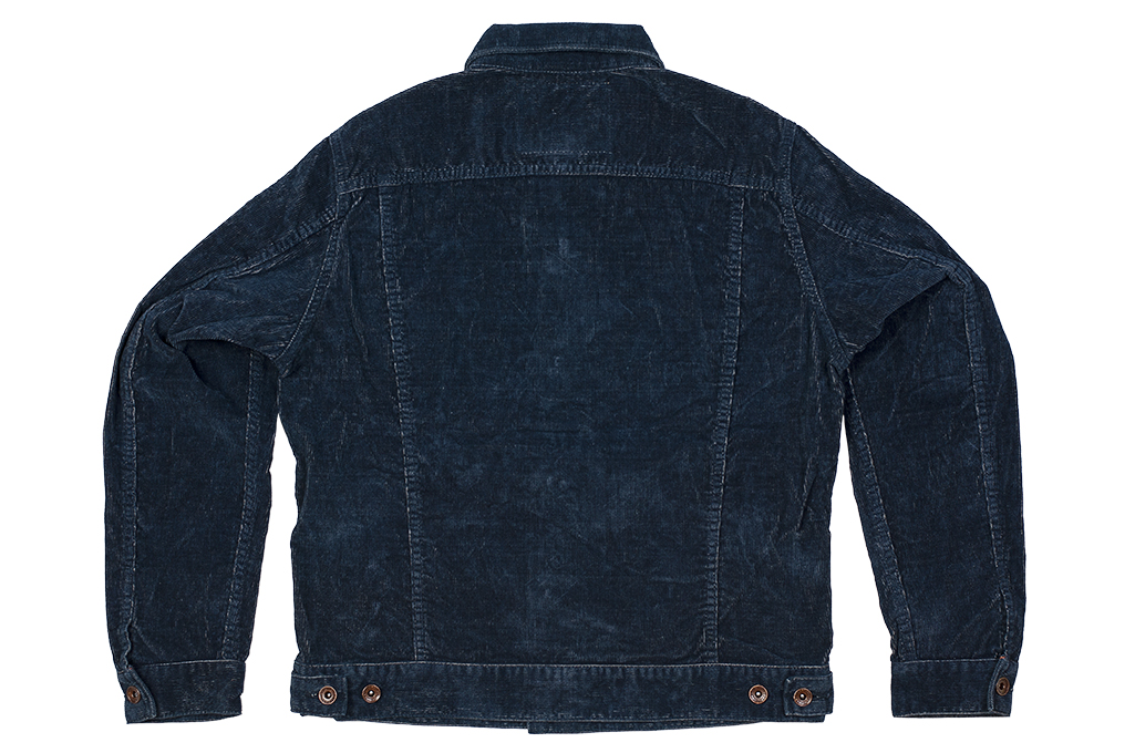 Iron Heart Corduroy Modified Type III Jacket - Indigo Dyed - Image 17