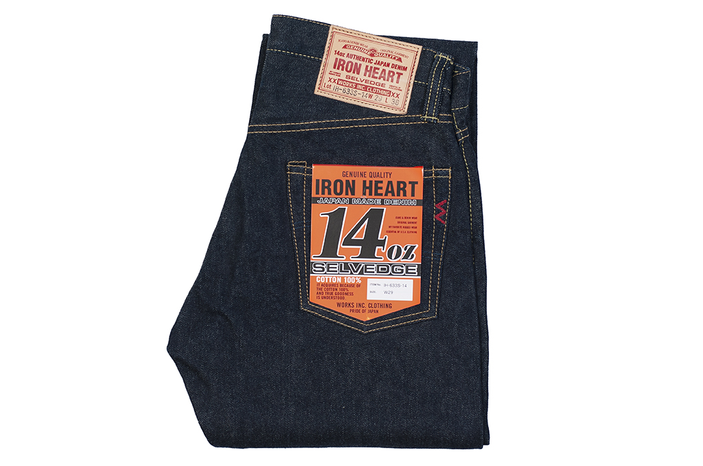Iron Heart 633s-14 Lightweight 14oz Denim Jean - Straight Tapered - Image 2
