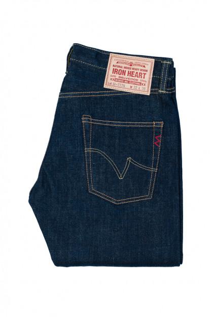 Iron Heart 777N 17oz Natural Indigo Jeans - Slim Tapered