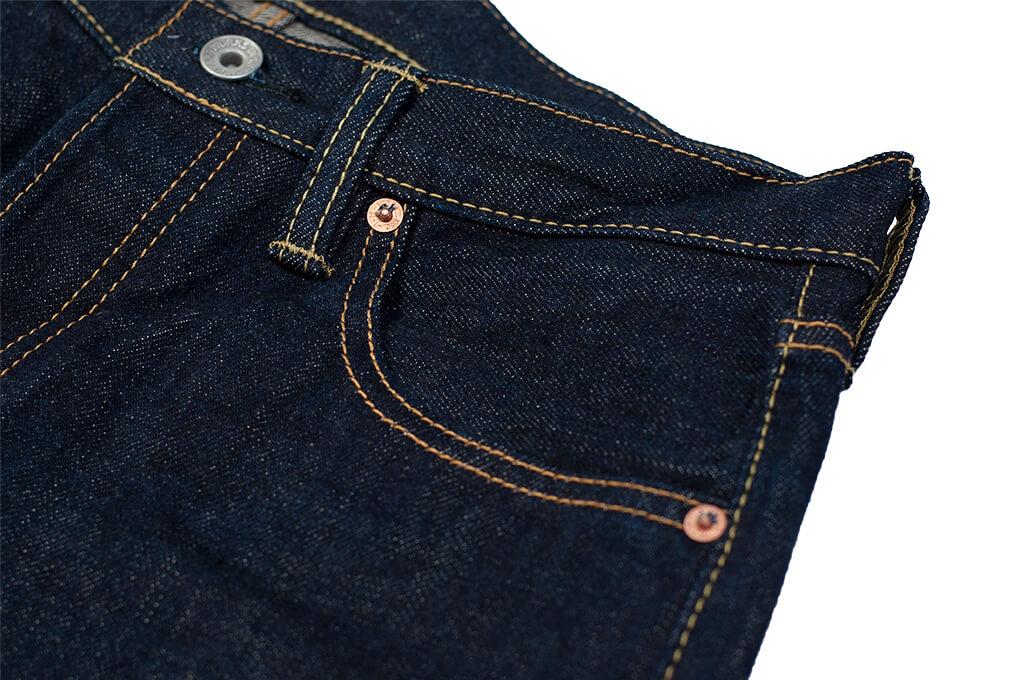 Iron Heart 777N 17oz Natural Indigo Jeans - Slim Tapered - Image 8