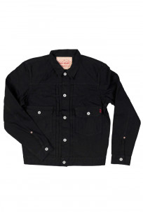 Iron Heart Type II Denim Jacket - 14oz Black/Black - Image 6