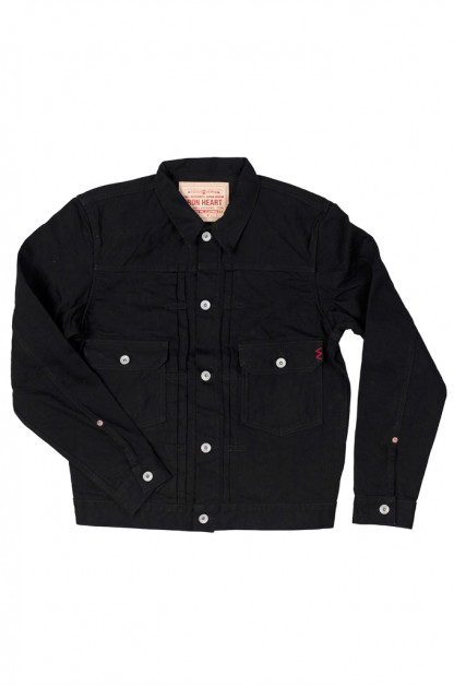 Iron Heart Type II Denim Jacket - 14oz Black/Black