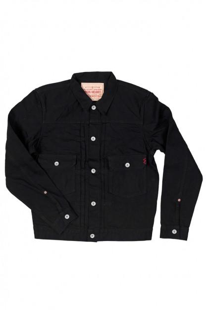 Iron Heart Type II Denim Jacket - 14oz Black/Black