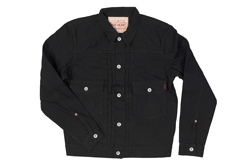 Iron Heart Type II Denim Jacket - 14oz Black/Black - Image 7
