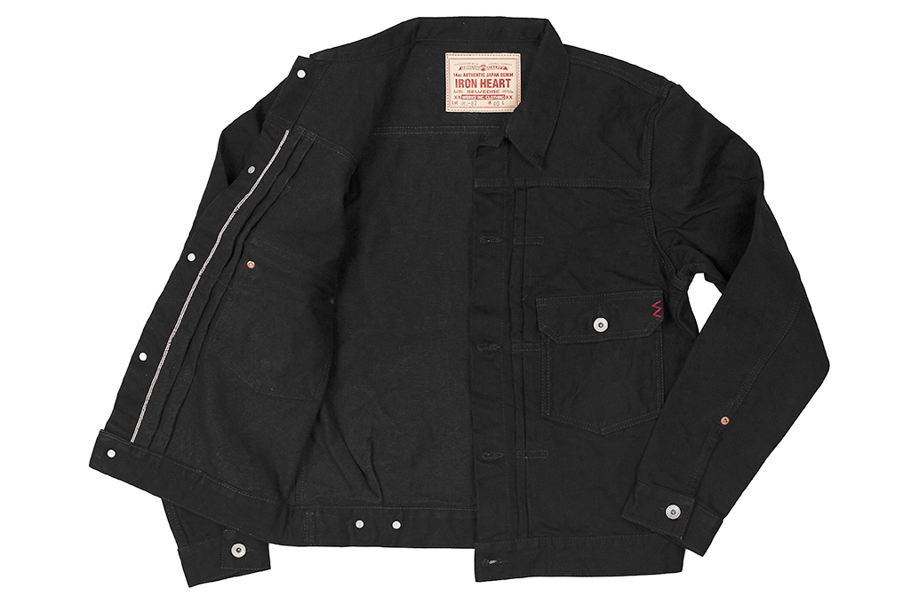 Iron Heart Type II Denim Jacket - 14oz Black/Black - Image 16
