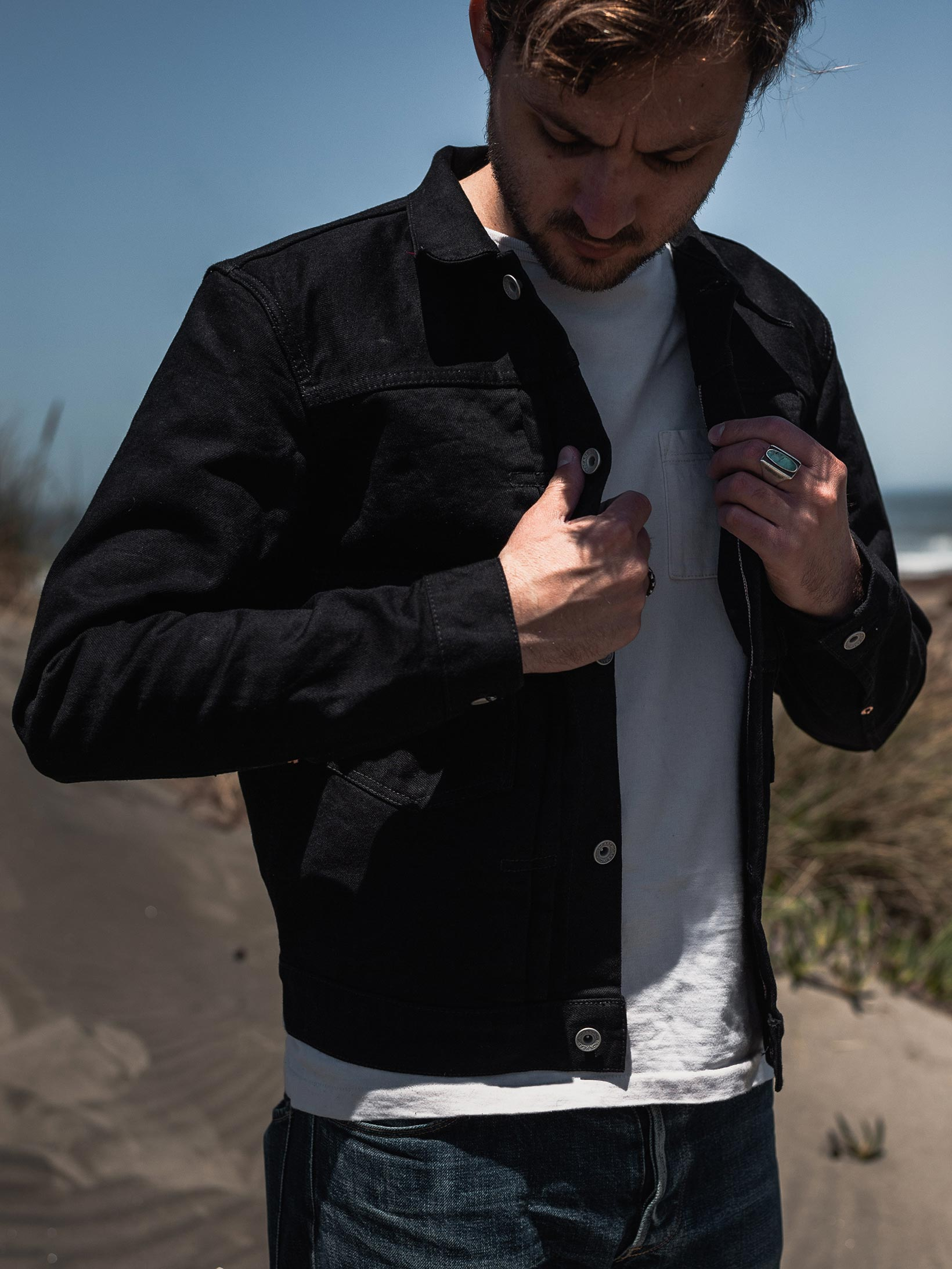 Iron Heart Type II Denim Jacket - 14oz Black/Black - Image 24