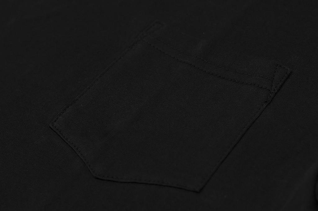 3sixteen T-Shirts w/ Pima Cotton 2-Pack - Black w/ Pocket Pima - Image 4