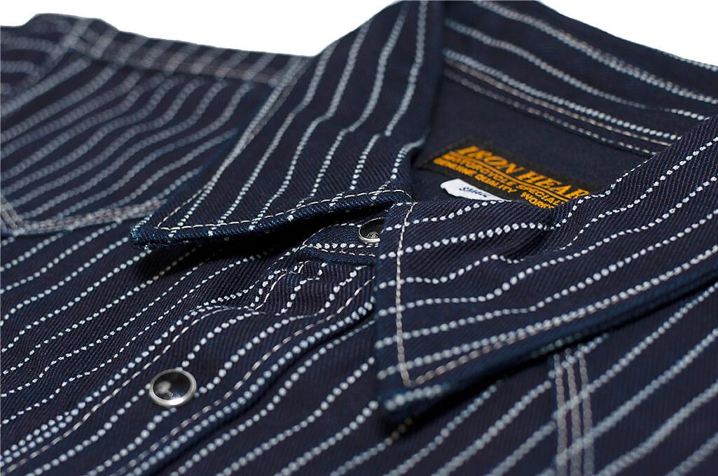 Iron Heart 12oz Wabash Snap Shirt - Image 3