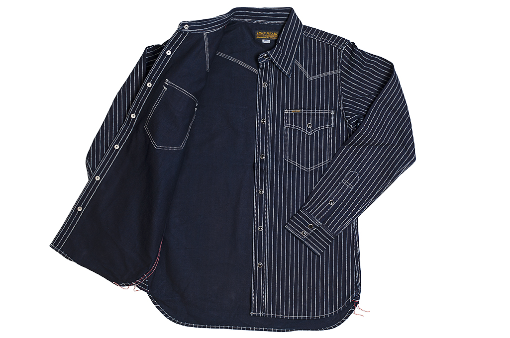 Iron Heart 12oz Wabash Snap Shirt - Image 9