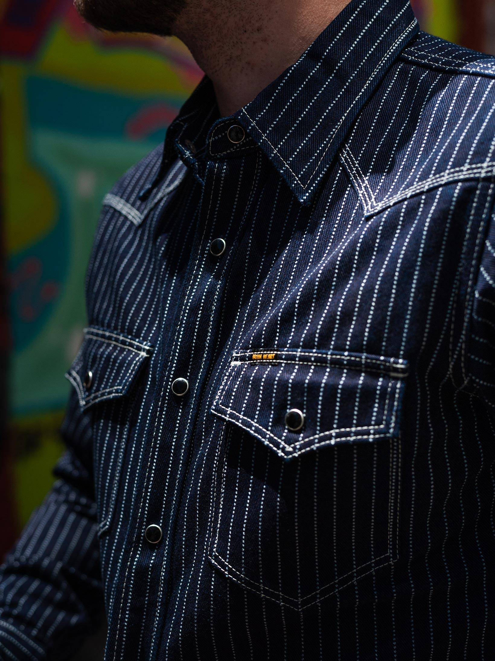 Iron Heart 12oz Wabash Snap Shirt - Image 24