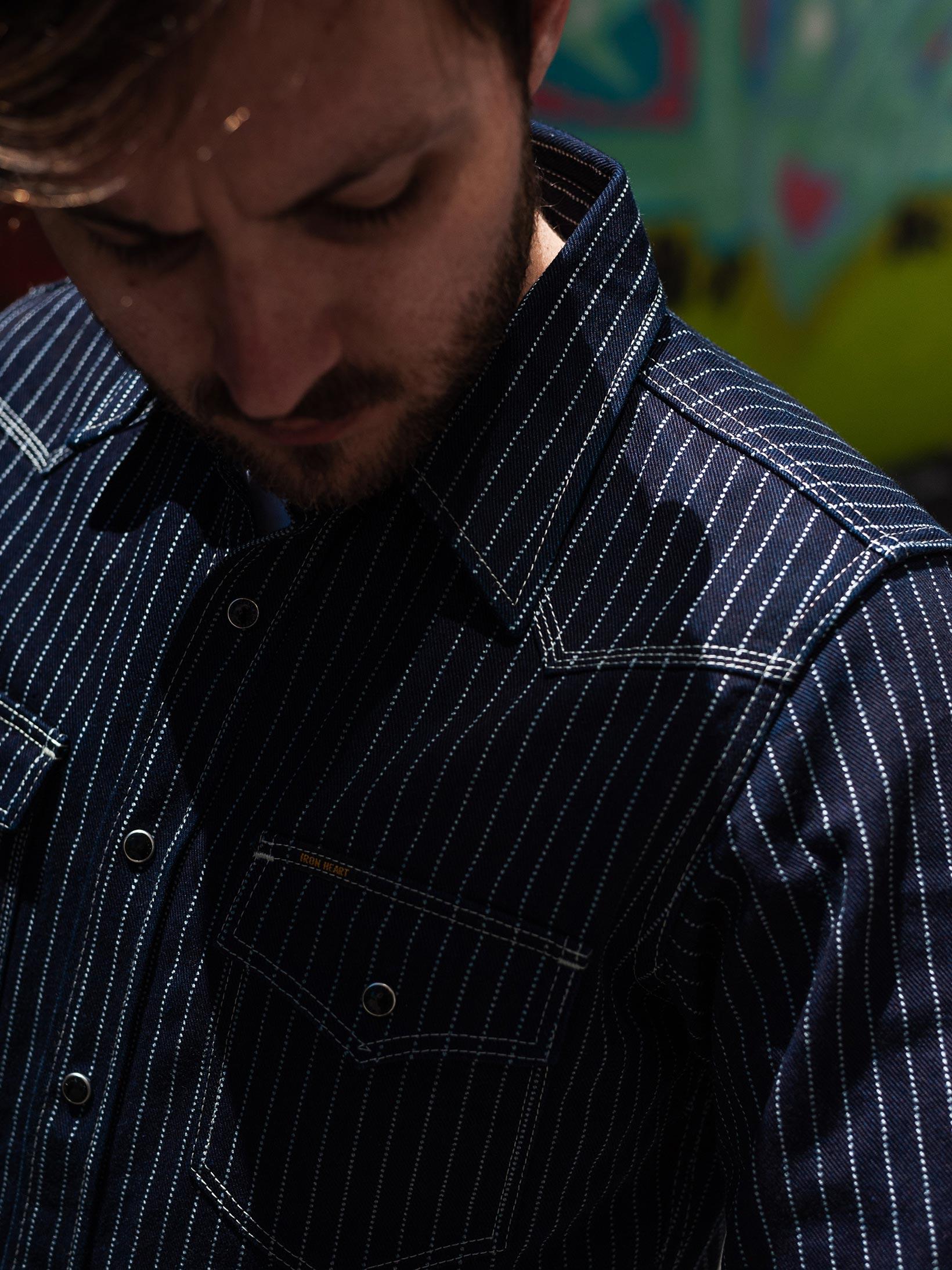 Iron Heart 12oz Wabash Snap Shirt - Image 25